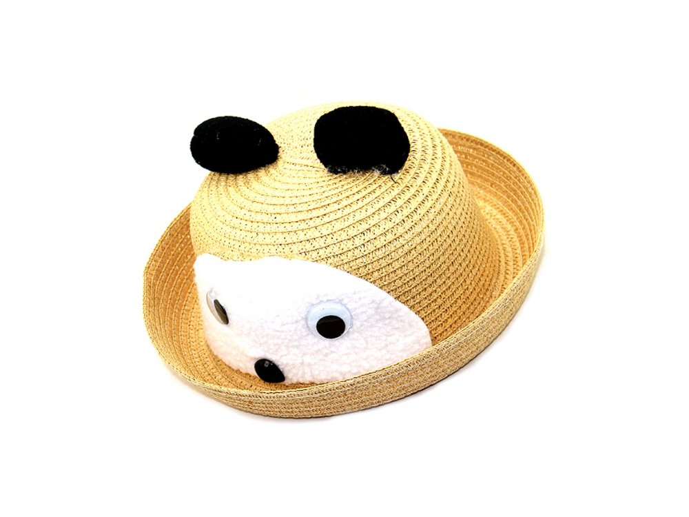 7ef6e631ec3 Amazon.com  Natural Yellow Cute Animal Mouse Theme Bright Color Summer Kids  Straw Fedora Hat  Everything Else
