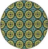 Oriental Weavers 8328L Caspian Round Outdoor/Indoor Area Rug, 7-Feet 10-Inch