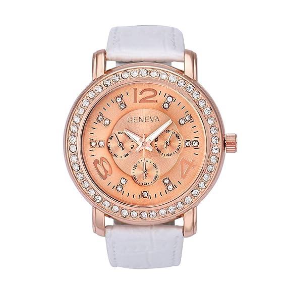 Bestow Reloj de Diamantes Geneva Reloj de Pulsera de Cuarzo Anal¨gico de  Cristal Rhinestone 6f43bae27510