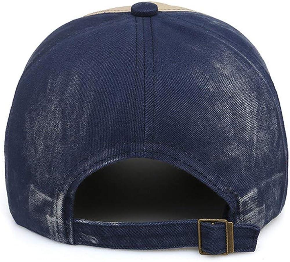 LINXUN Baseball Cap Adjustable Mens Baseball Cap Blue