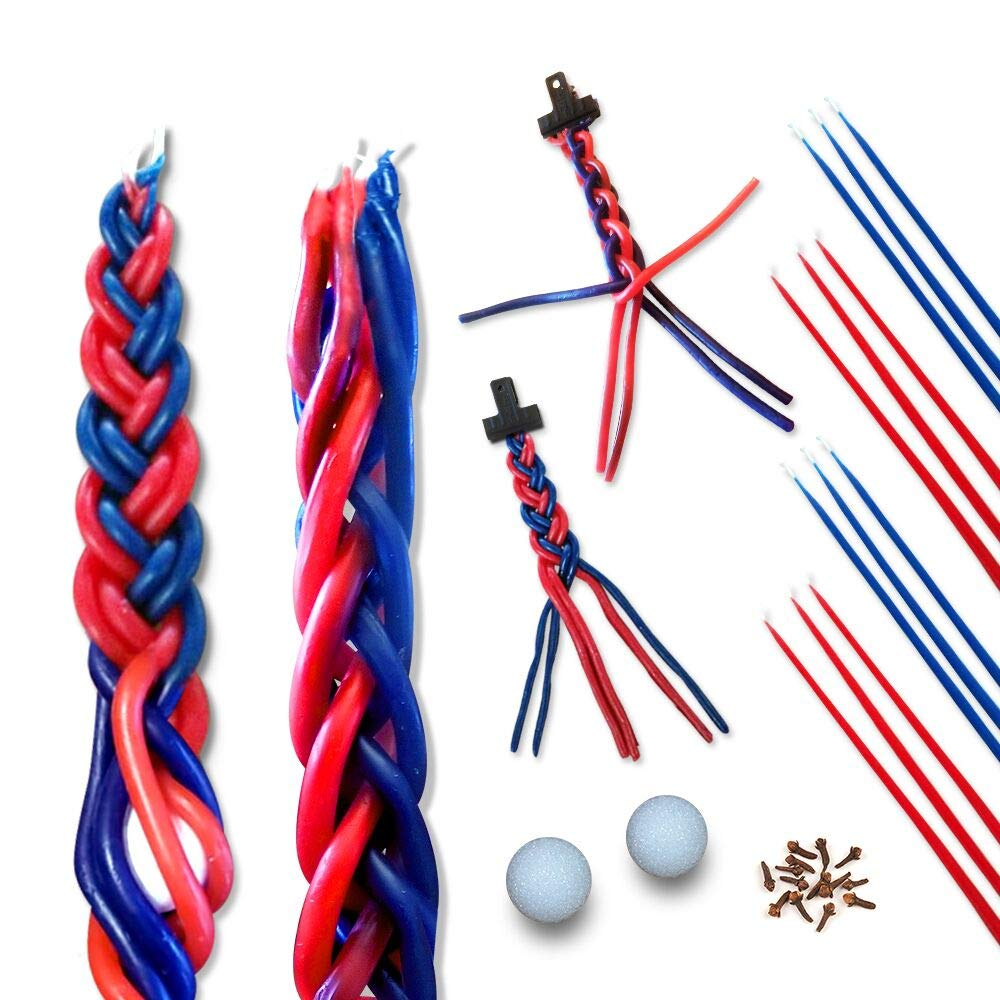 Havdalah Candle For Kids - DIY Candle Craft - Braided Havdalah Candle Set - Create Your Own Candles - Craft for Kids & Adults (10)