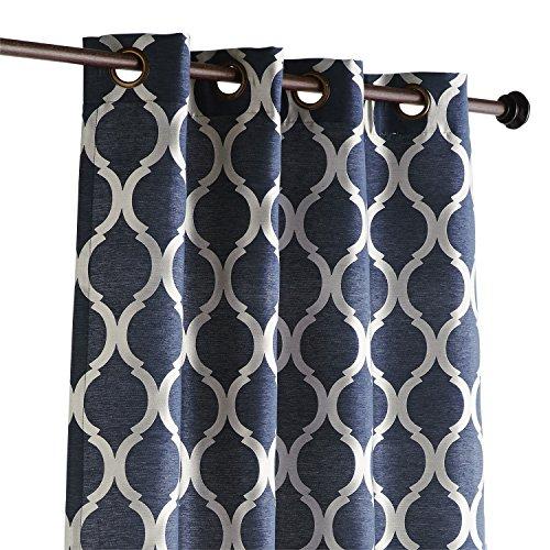 Pier 1 Imports Single Panel Moorish Tile Pattern Grommet Top Lined Indigo 84