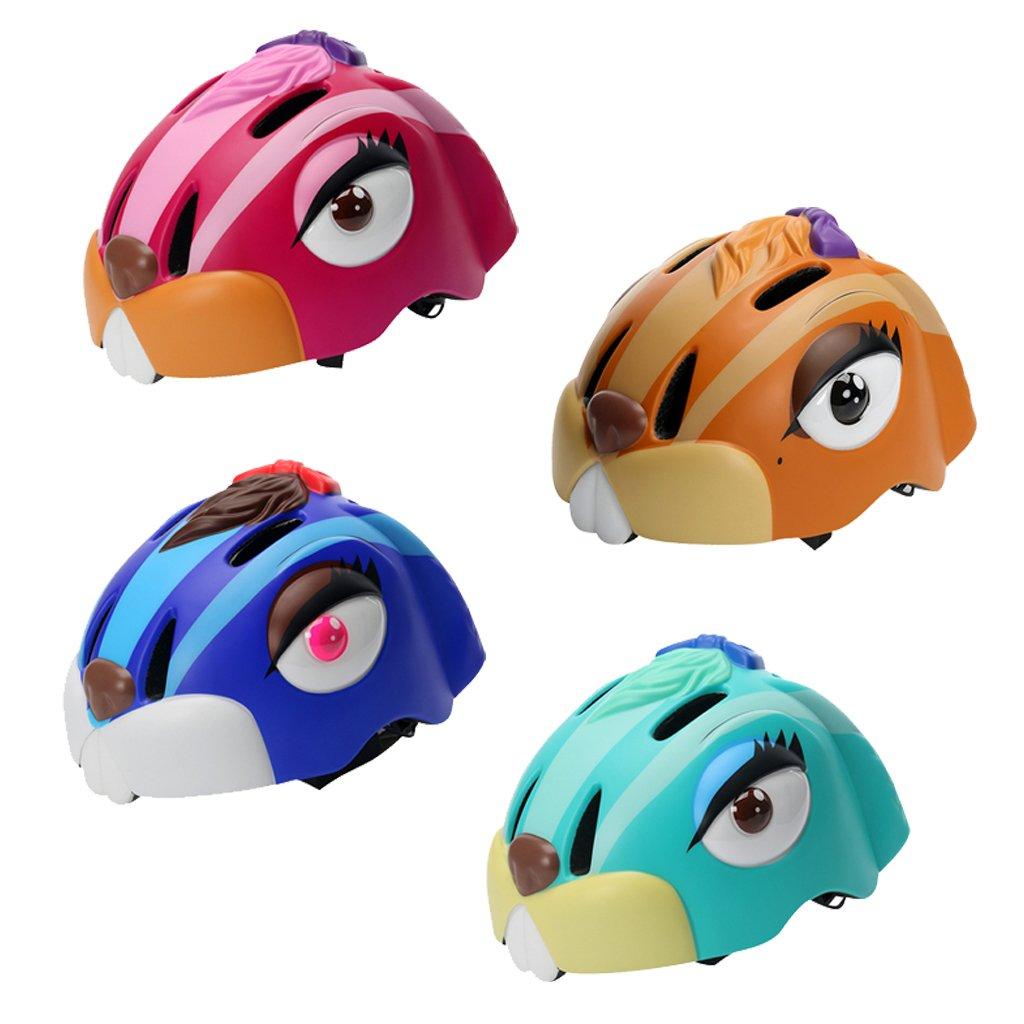 Kids Cycling Helmet Cartoon Animal Youth Bicycle Skateboard Bike Helmet by MagiDeal