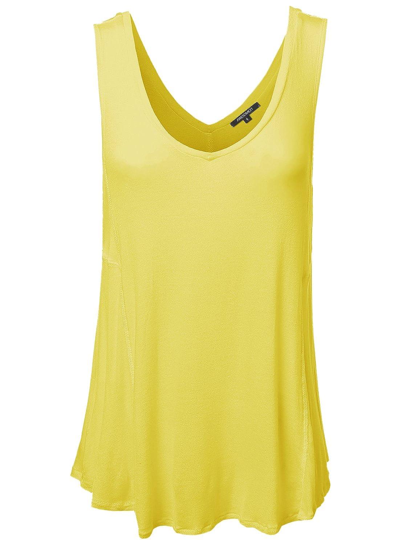 Plus4u Women's Basic Solid Sleeveless Plus Size Tank Top