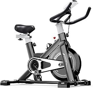 Fnova Bicicleta Spinning Estática Indoor, Pantalla LCD, Volante de inercia de 6 kg, Ajustable Resistencia Fitness Bicicleta: Amazon.es: Deportes y aire libre