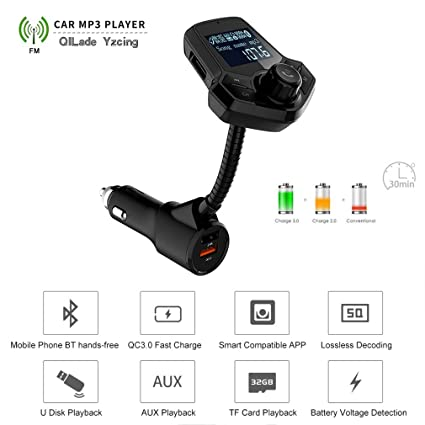 Wireless Bluetooth LCD MP3 Player FM Transmitter Handsfree Car Kit USB Charger