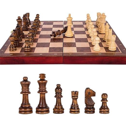 Juego de Ajedrez Juego de ajedrez grande plegable de madera de ...