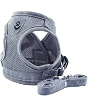 Lorsoul Dog Harness Daily Vest, Training Dog Walking Vest Clothes Puppy Harness Jacket, for Small Meduim Large Dogs - XS/S/M/L/XL, Silver