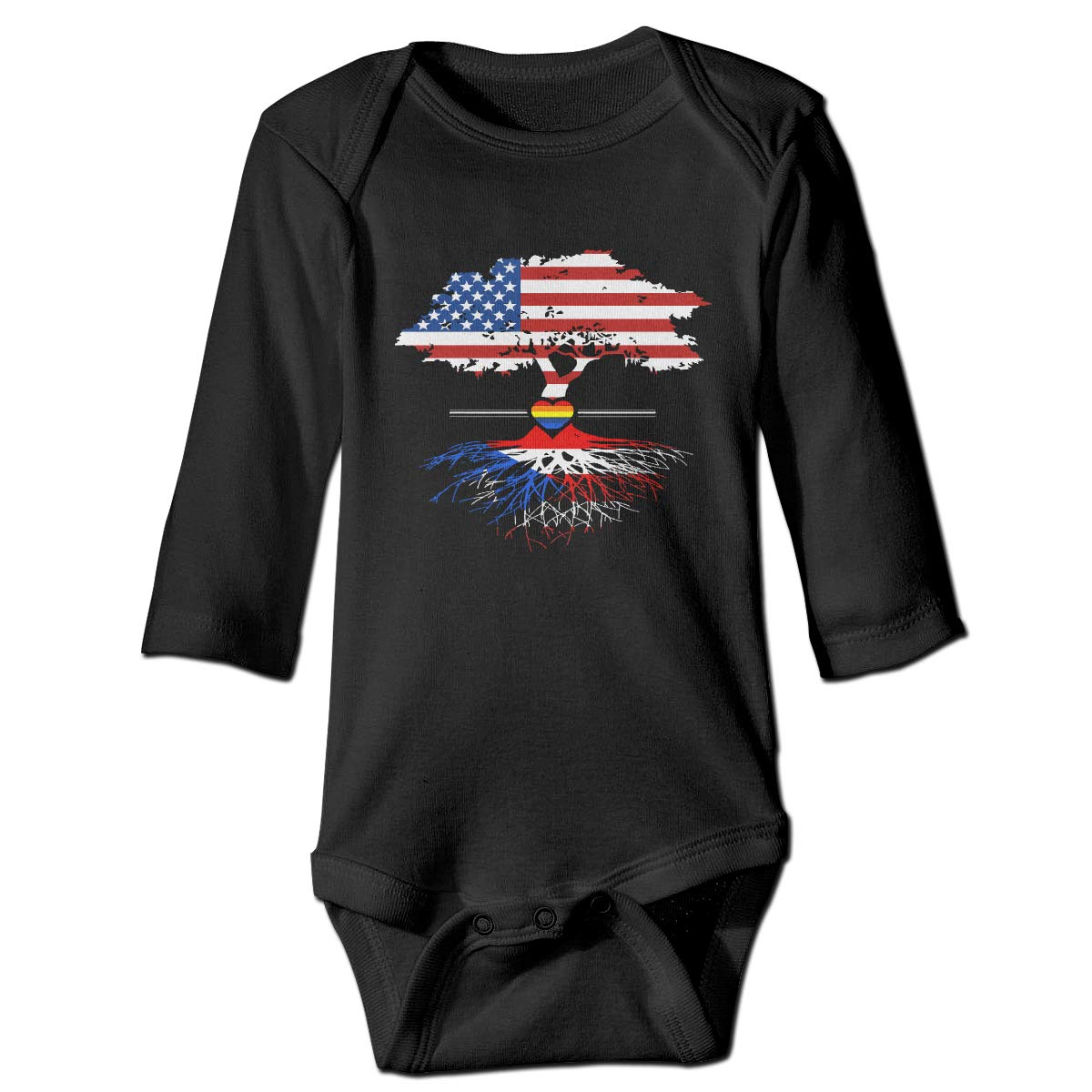 CZDedgQ99 Baby Boys American Grown Puerto Rican Gay Long Sleeve Climbing Clothes Playsuit Suit 6-24 Months