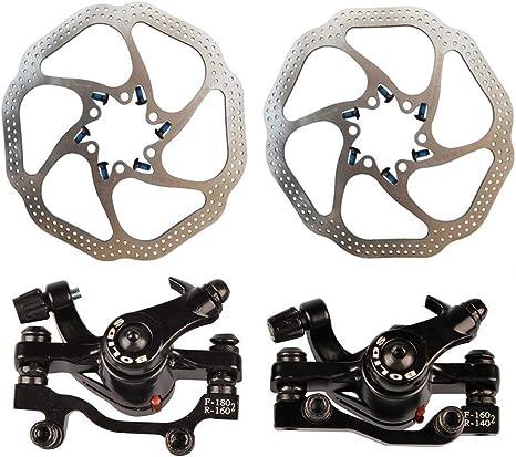 LIZI Juego de Frenos de Disco de Bicicleta, mecánico HS1 160/180 ...