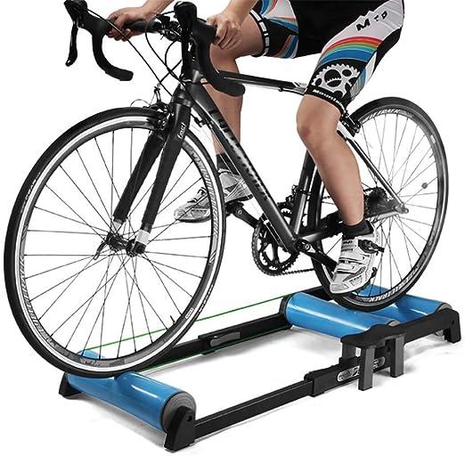 QXT Entrenadores de Resistencia de Bicicleta Interior,Ejercicio de Andar en Bicicleta Entrenamiento de Rodillos de Bicicleta Mesa para Entrenamiento en Todas Las Estaciones: Amazon.es: Hogar
