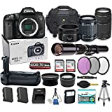 Canon EOS 7D Mark II DSLR Camera Bundle with 4 High Caliber Lenses + Battery Grip + HD Filter Set + 2x 32GB Memory Cards + 2x Auxiliary Lenses + Camera Starter Kit with Accessories