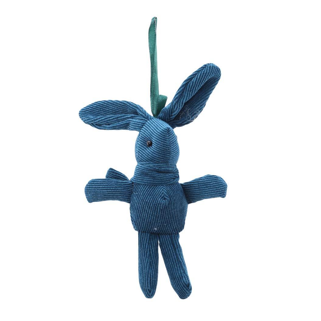 LZIYAN Cartoon Rabbit Shaped Doll Hanging Toy Corduroy Long-Legged Rabbit Stuffed Toys For Children Bag Pendent Ornaments,Dark green