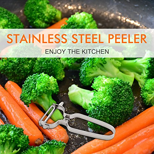Potato Swiss Peeler-JVTIA Vegetable peeler Precision Kitchenware Fruit Stainless steel peeler,2 piece non-slip handles by JVTIA (Image #6)