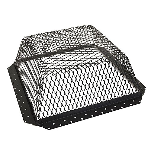 Master Flow 30 in. x 30 in. Galvanized Metal Guard Screen Roof Vent Cover in Black