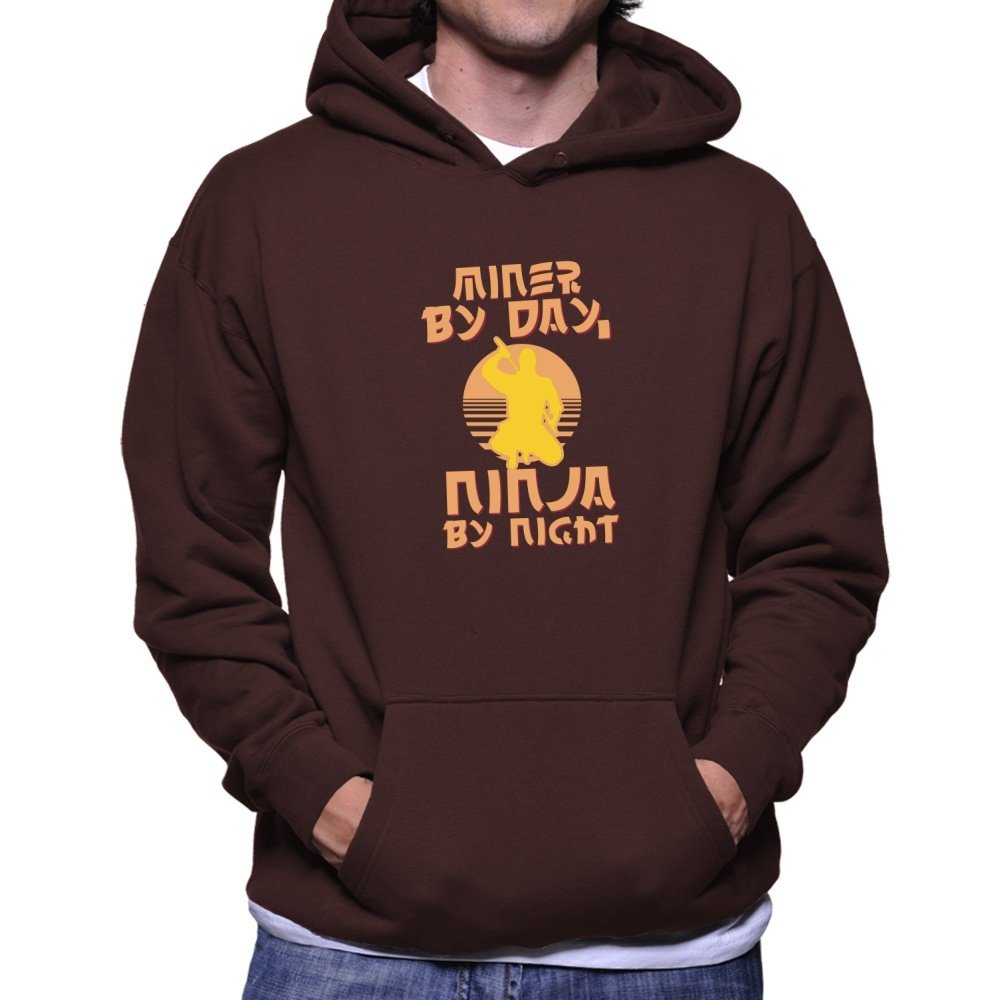 Teeburon Miner by Day, Ninja by Night Sudadera con Capucha ...