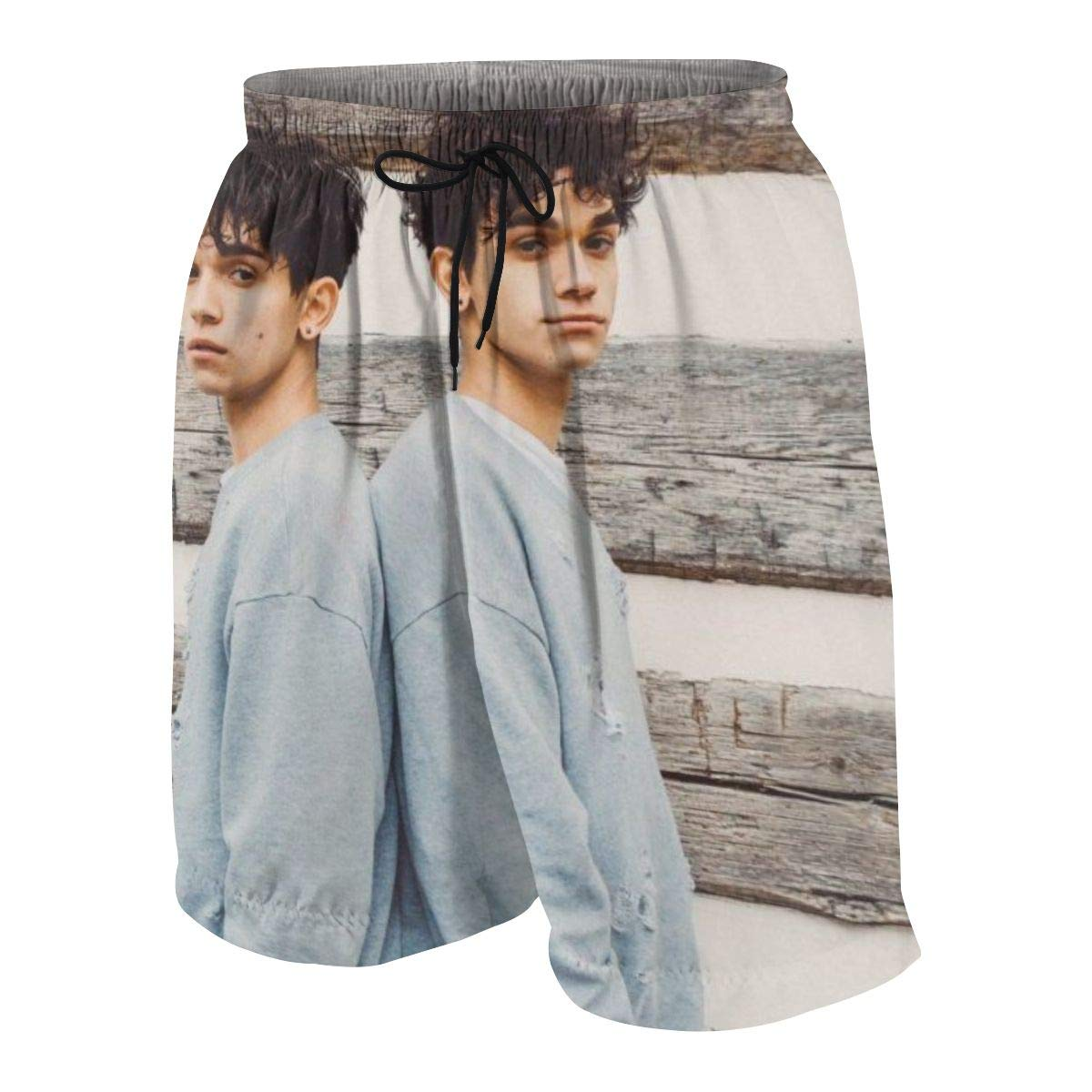 KSFKE Lucas and Marcus Teens Beach Board Shorts Quick Dry Bathing Suits Swim Trunks Shorts