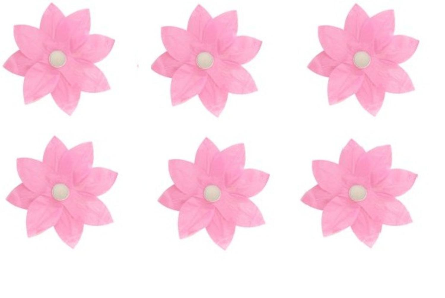 Amazon Pack Of 6 Pink Floating Lotus Paper Flower Outdoor