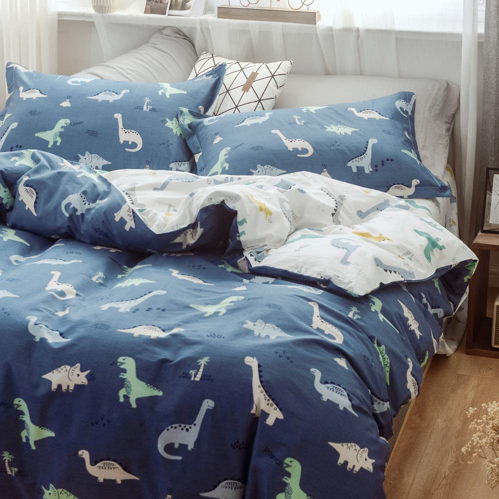 XUKEJU Cute Animal Reversible 3pcs Bedding Set Printing Cartoon Cute pet Duvet Cover Super Soft for Children//Adults 100/% Cotton Comforter Cover Twin Size