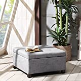 Madison Park FPF18-0256 Aspen Button Tufted Storage Ottoman