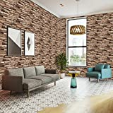 Peel and Stick Wallpaper - Stone Wallpaper - Self Adhesive Background - Removable 3D Wall Decor for Living Room, Bedroom, Kids Rooms Mural Decor, Large Size 1.47x14.8 Feet (Stone)