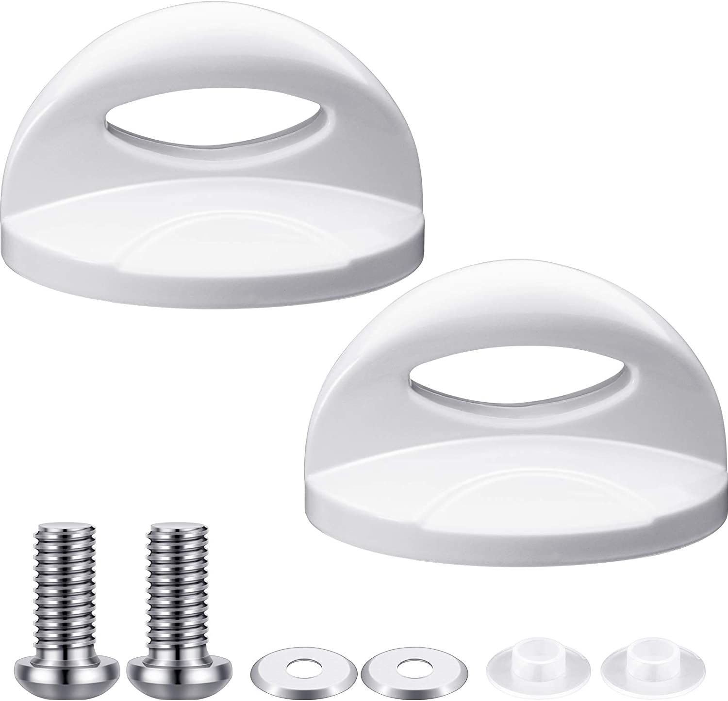 2 Pieces White Pot Lid Top Replacement Knob Kitchen Cookware Universal Replacement Pan Lid Holding Handles Cookware Lid Knob Replacement for Pots and Pans Crock-Pot Replacement Lid