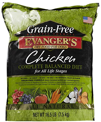 EVANGER'S 776009 Grain Free Chicken, Sweet Pot, Pumpkin Dry Dog Food, 16.5-Pound