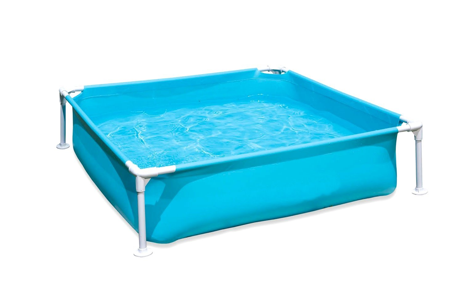 Kids-Frame-Pool. Small Kiddie Above Ground Swimming Fill 'N Fun Pool Is Great For Children & Toddlers To Have Outdoor Water Fun W/ Toys & Floats. This Baby Pool Light & Portable. Heavy-Duty (Blue)