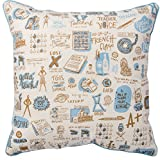 Primitives by Kathy Decorative Teacher Throw Pillow, 16-Inch Square