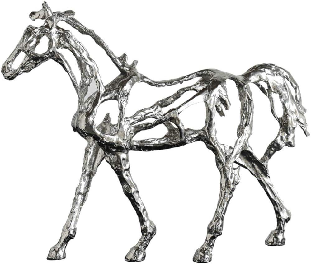 ZAAQ Figurilla Regalos Adornos Decorativas para La Casa Artesanías de Hierro de Adorno de Caballo galvanizado Retro de Estilo Europeo