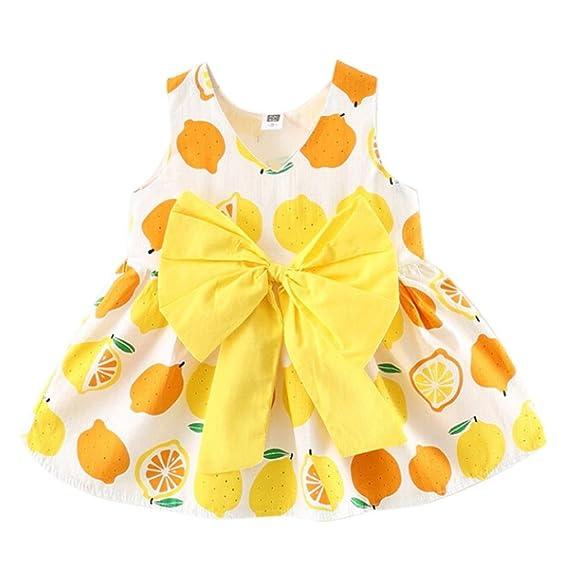 PAOLIAN Ropa Monos para Niñas Recien Nacidos bebés Vestidos de Princesa para bebés Niñas Verano Impresion