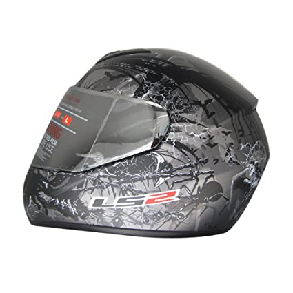 LS2 FF352 L Full Face Helmet,( Phobia Matt Anthracite,XL)