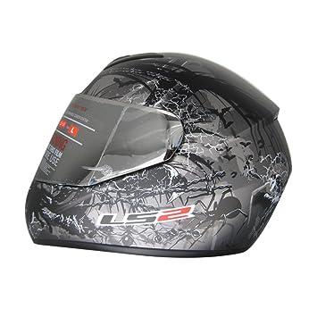 LS2 FF352 L Full Face Helmet,( Phobia Matt Anthracite,XL)