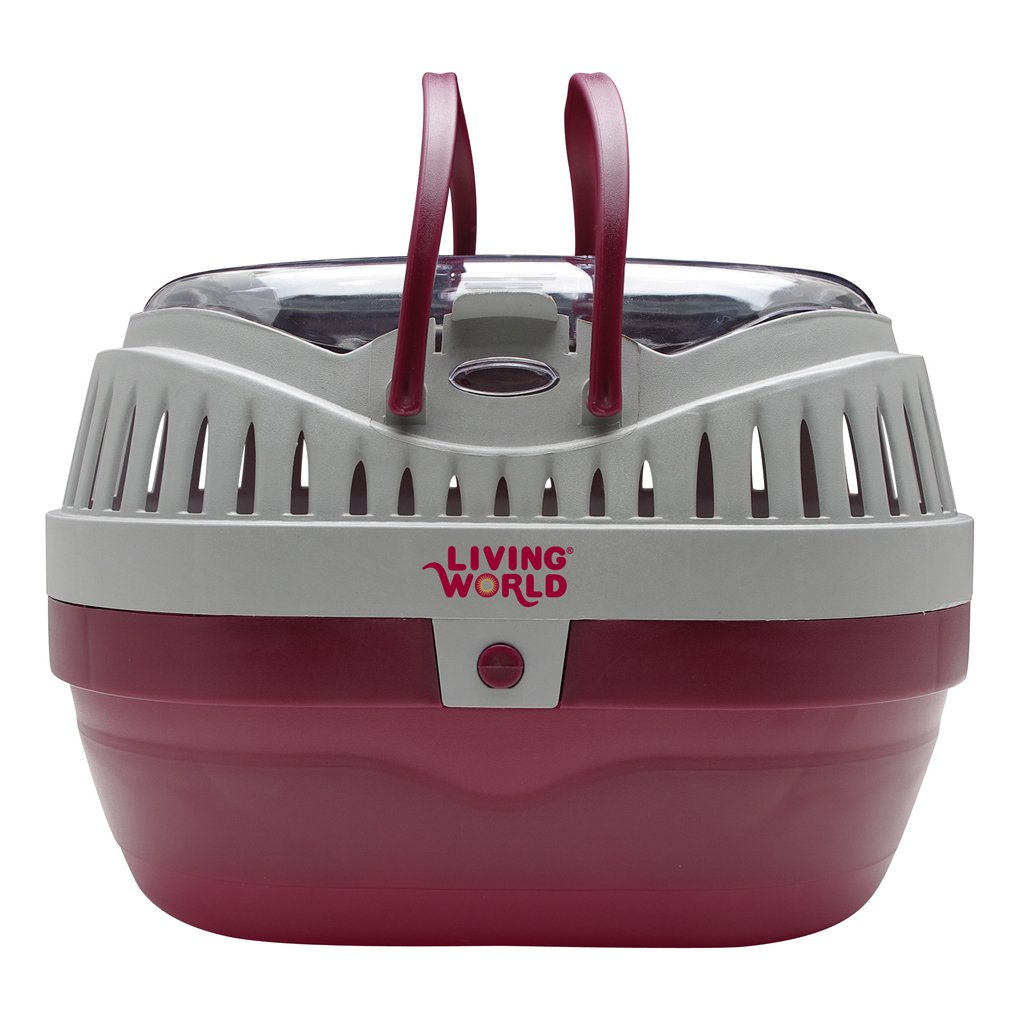 Living World Pet Carrier, Red/Grey by Living World