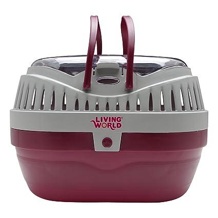 cdbaaddcc5b Amazon.com : Living World Pet Carrier, Red/Grey : Small Pet Carrier ...