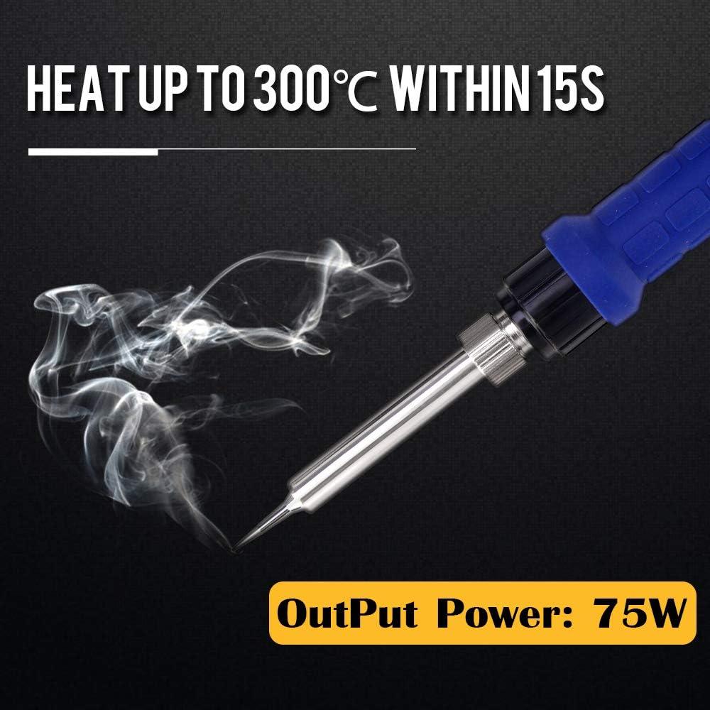 conversione aria calda//fredda Stazione di rilavorazione e saldatura ad aria calda 8786D-I con /° F // /° C correzione digitale della temperatura e funzione sleep 700W 2-In-1 Stazione Saldante