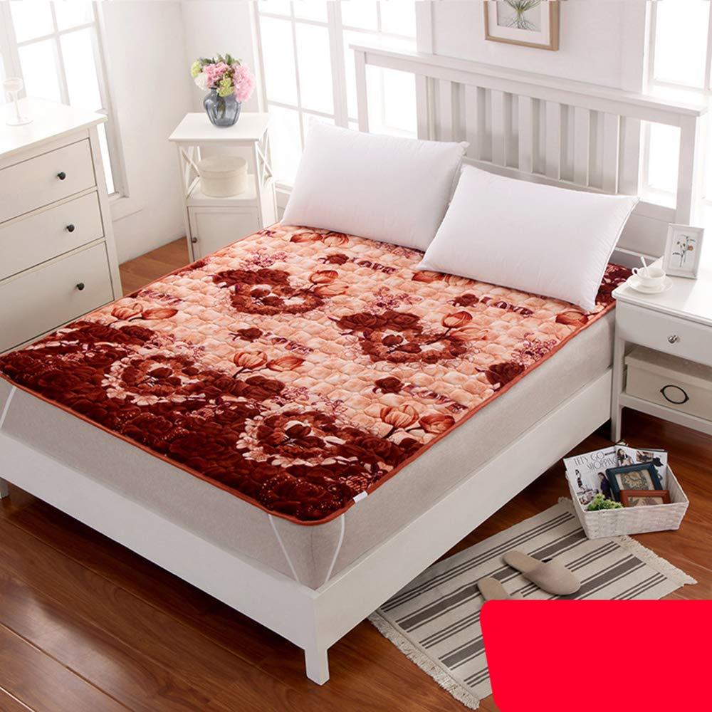 mattress Colchones de Franela de Cuatro Estaciones,Lavado a máquina Tatami colchón Puede ser doblado,Colchón de la Cama del Dormitorio del Estudiante ...