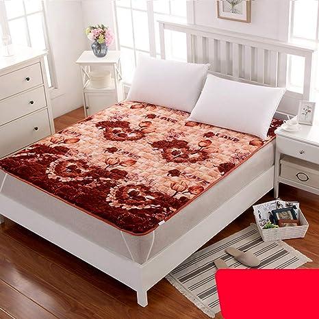 mattress Colchones de Franela de Cuatro Estaciones,Lavado a máquina Tatami colchón Puede ser doblado