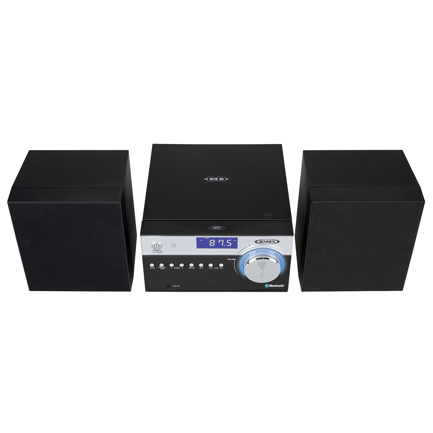 Amazon Jensen Modern Black Series JBS 200B Bluetooth CD Music