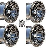 MSA M12 Diesel ATV Wheels/Rims Black 14'' Sportsman RZR Ranger Deep Dish (4)