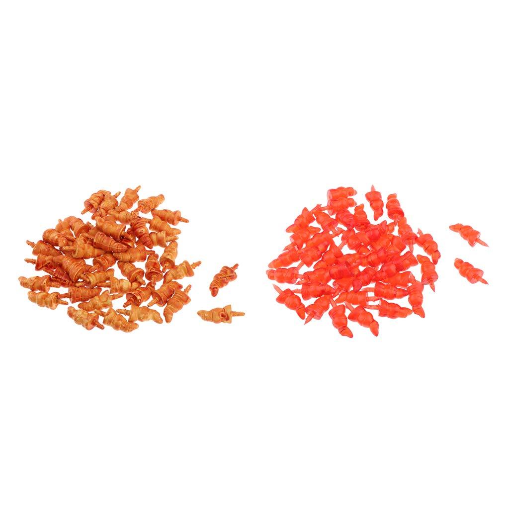 Orange F Fityle 100-tlg M/öhrennase Karotten Nasen aus Plastik f/ür Schneemann Weihnachtsmann Puppen DIY Basteln