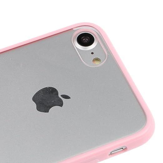 75476ec082 Amazon | SZMM iPhone7対応 保護カバー ハード アクリル ケース 透明 iPhone7プロテクター カバー iPhone7アクセサリ  ピンク | ケース・カバー 通販