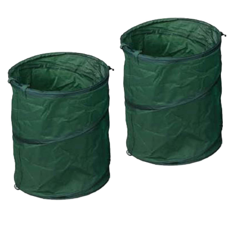 2 Piece Set 25 Gallon Reusable Pop Up Lawn & Garden Trash Leaf Bag