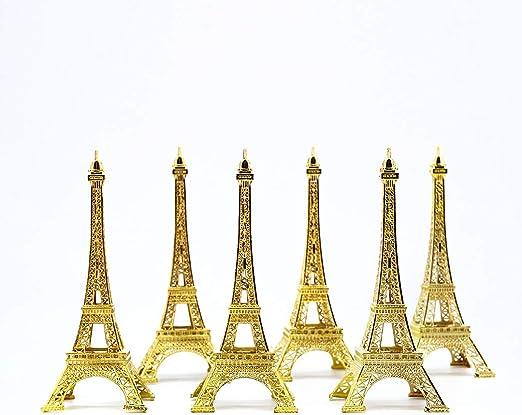 Black Metal Eiffel Tower Statue Figurine Replica Centerpiece 7 Inch 18cm