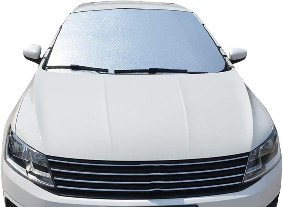 2 Gr/ö/ßen LSXIAO-sonnenschutz frontscheibe Sonnenschutz Verdunkelungsvorhang Sonnenblende Fensteraufkleber Frontscheibe Outdoor-Freizeitmatte Color : Silver, Size : 70x70x170cm