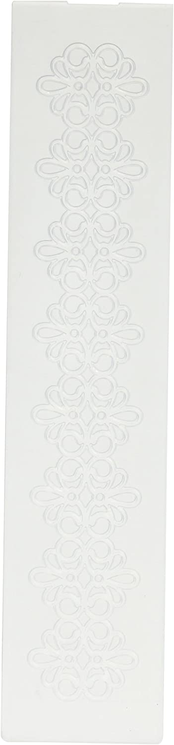 2.3 by 13.3cm Leane Creatief Border Embossing Folder Lace