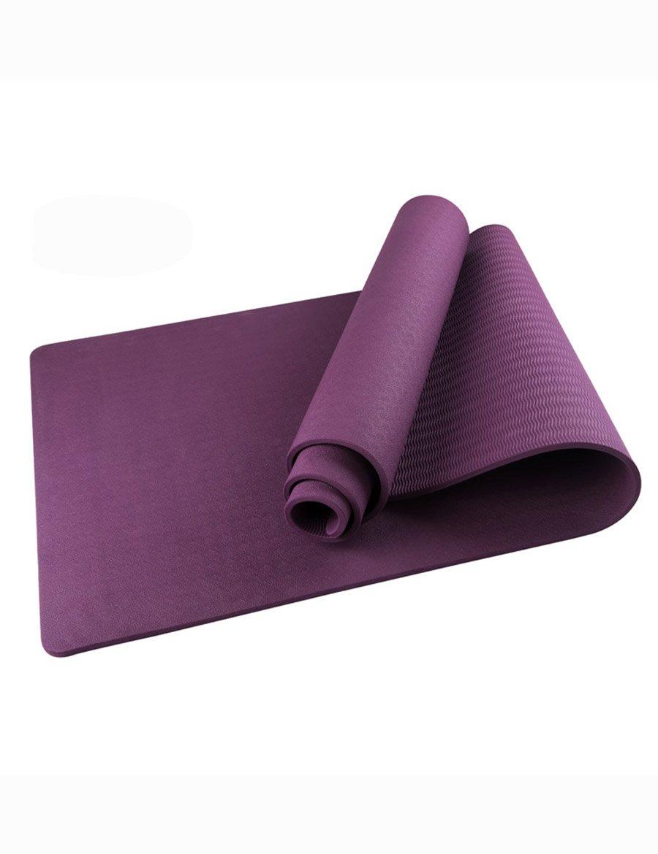 Anti-Rutsch-Yoga-Matte --- 10 mm TPE Rutschfester Umweltschutz Yogamatte, Farbe wahlweise freigestellt --- Naturkautschuk Yoga-Matte, für Training   Pila