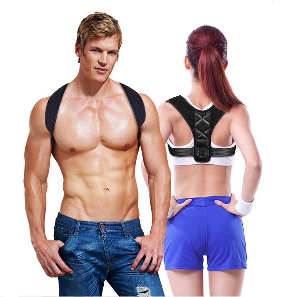 Huimu Adjustable Back Posture Corrector for Women Men & Clavicle Brace to Improve Bad Shoulder Postures, Prevent the Hunchback of Long Sitting in Front of the Computer