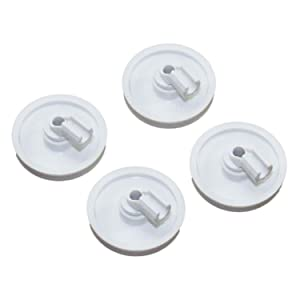 New (4 PACK) 154174501 Dishwasher Lower Rack Roller Fits Frigidaire Kenmore AP2135554 PS452448 5300809640 154294801