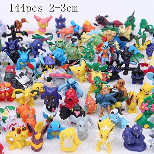 Japanese Anime Figure - 144 Pcs 2-3 cm Pikachu Action Figure Toys Japanese Cartoon Anime Mini Collections Birthday Gifts Cartoon doll toy